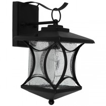 IP44 Outdoor Lighting Ohio Exterior American Period Wall Lights Matte Black