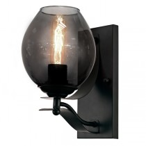 Oska Elegant Wall Lights Modern Lighting Black Matte Smoked Glassware