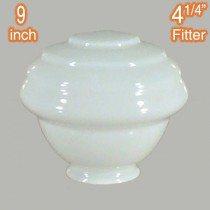 Glossy White Parkville 9 inch Glassware Lamps Shades Period Lighting Lights