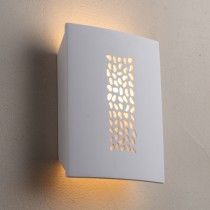 Paintable Pebble Plaster Wall Lights LED Sconce Lighting Marden Design