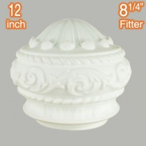 White Premier 12 inch Glassware Lamps Shades Opal Matt Period Lighting