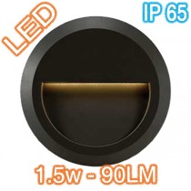 Telbix Prima Exterior Lighting Round LED Wall Light Black