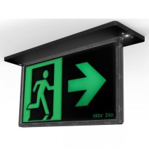 24m Black Blade Exit Lights Sign LED Lighting Recessed