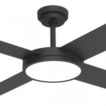 "Ceiling Fans Matt Black Revolution3 52"" Dimming LED AC Polymer Hunter Pacific"