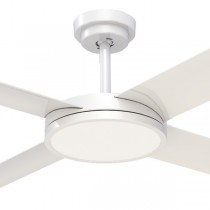"Revolution3 52"" Dimming LED AC Polymer Ceiling Fans White Hunter Pacific"