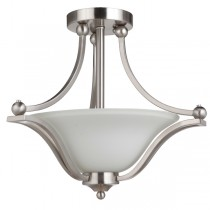 Rivoli Flush Lights Satin Nickel CTC Ceiling Lighting Industrial Lode International