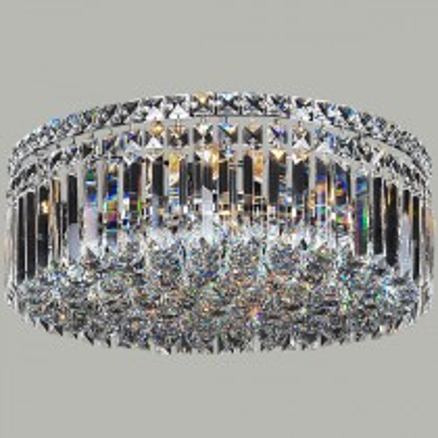 Traditional Crystal Lighting Rotondo 6 Light Large CTC Light Ceiling Flush