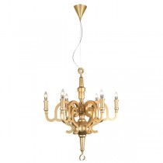 Replica Pendants Studio Job Moooi Paper Chandelier Champagne Gold Lights Lighting
