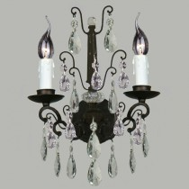Salzburg Crystal Bronze Wall Lighting Classical Lights Lode International
