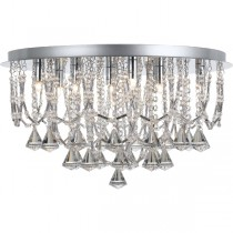 Telbix Sandro 9 Lights CTC Close to Ceiling Lighting Crystal Flush