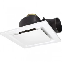 Square Exhaust Fan Toilet Lighting Bathroom 18194 White Sarico2 325mm