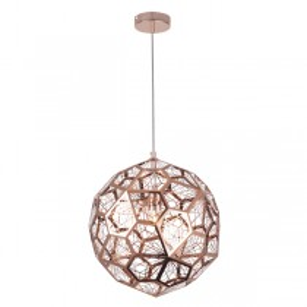 Copper Pendants Lighting Replica Tom Dixon Etched Web Lights