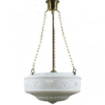 Lode International Large Brass Senator 3 Chain Pendants Lights Suspensions Lighting Traditional