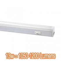 Slimline LED Kitchen Lighting Batten 13w Lights Cupboard Linkable Diffused