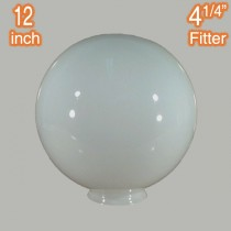Opal Glossy 12 inch Spherical Ball Glassware Lamps Shades Period Lighting