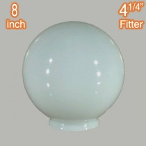 8 inch Sphere Glass Shade Round Ball Opal Gloss