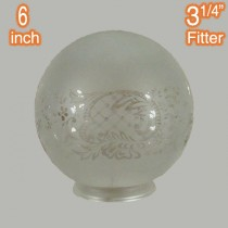 6 inch Ball Glassware Lamps Shades Sheffield Etched Period Lighting