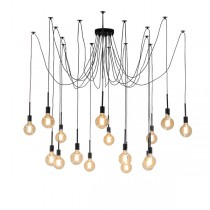 Octopus Lights Black Spider Pendants Lighting Hanging Ceiling Cafe