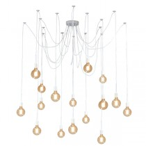Spider 16 Lights Pendant Lighting White Hanging