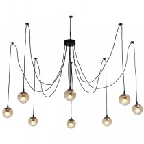 Jason Miller Spider Black Pendant Light Looping Ceiling Lighting