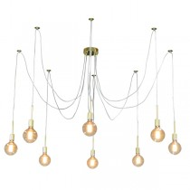 Spider Looping Ceiling Light Gold Pendant Lighting
