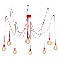 Spider Pendant Red Lighting 8 Light Hanging