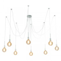 Spider Pendant Lighting 8 Light White Hanging