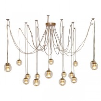 Modo Gold Jason Miller Spider Pendants Lights Looping Ceiling Lighting