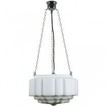 Chrome St Kilda 3 Chain Pendants Lights Suspensions Lode Lighting Traditional Art Deco