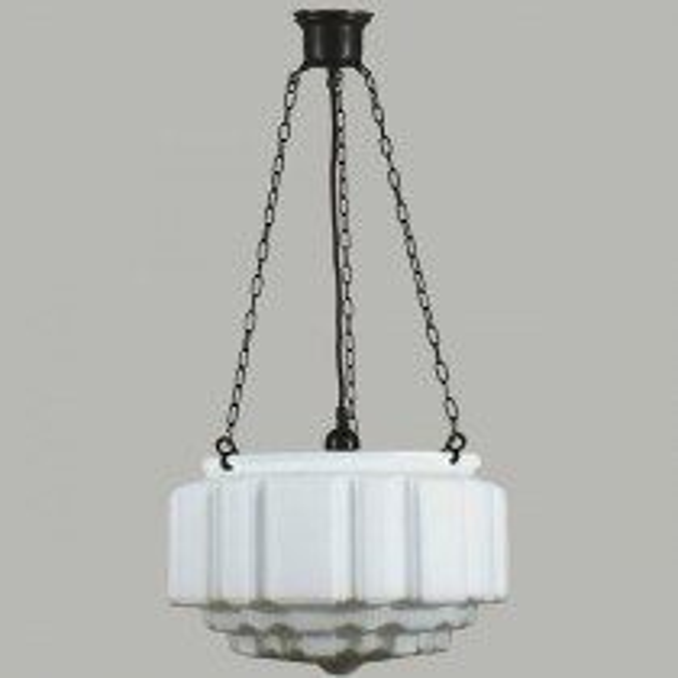 Patina Black St Kilda 3 Chain Pendants Lights Suspensions Lode Lighting Traditional Art Deco
