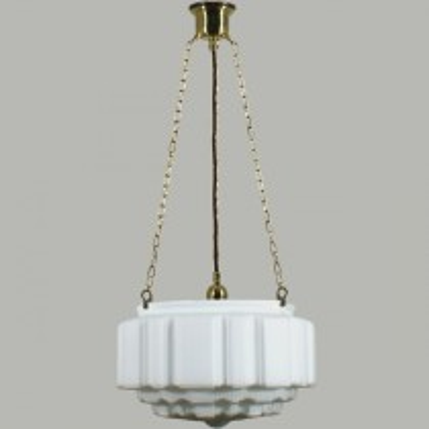 St Kilda 3 Chain Pendants Suspensions Lode Lighting Brass Traditional Art Deco Lights