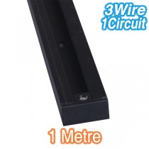 Black 1m Track Lighting 3Wire 1Circuit