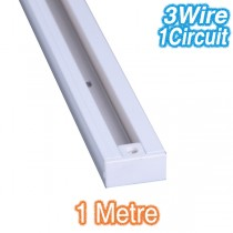 Commercial Lights White 1m Track Lighting 3Wire 1Circuit