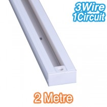 White 2m Track Lighting 3Wire 1Circuit
