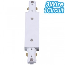 White Centre Feed Track Lighting Joiner 3Wire 1Circuit Ceiling Lights