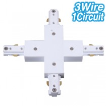 White Cross Joiner Track Lighting 3Wire 1Circuit