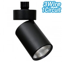 Black 15w LED Track Lights Spock STR4866 Ceiling Commercial Lighting Melbourne