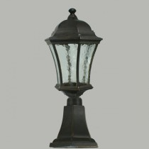 Strand Outdoor Small Pillar Mount Light Antique Bronze