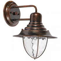 Surry Copper Bronze Wall Lights IP44 Outdoor Lighting Exterior Cage Period