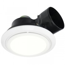 Exhaust Fan LED Toilet Light Brilliant 20396 Talon Round Bathroom