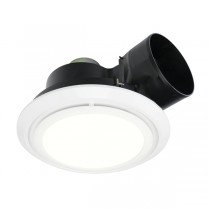 LED Toilet Light Exhaust Fan Brilliant 20396 Talon Round Bathroom