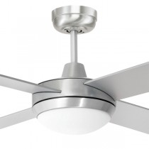 "Aluminium LED Tempest Ceiling Fans Bedroom 52"" AC Timber Brilliant Lighting"