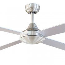 "Tempo 48"" AC Timber Ceiling Fans Brushed Chrome Brilliant Lighting"