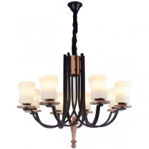 Lighting Foyer Grand American Wrought Iron Chandelier Lights Pendants
