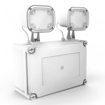 Twinspot WP Lite Warehouse Emergency Lights 11054 Concrete Mounted Wall