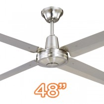 "Typhoon M3 48"" AC Metal Coastal Ceiling Fans 316 Stainless Steel Hunter Pacific"