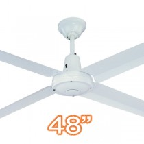 "Hunter Pacific Ceiling Fans Typhoon 48"" Metal White 4 Blade"
