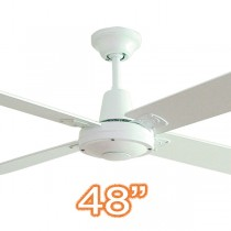"Hunter Pacific Ceiling Fans Typhoon 48"" White Timber 4 Blade"