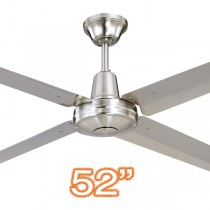 "Hunter Pacific Typhoon 52"" Metal Ceiling Fan 316 Stainless Steel 4 Blade Ceiling Fan"