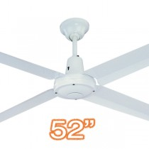 "Hunter Pacific Typhoon 52"" Metal 4 Blade Ceiling Fan White"